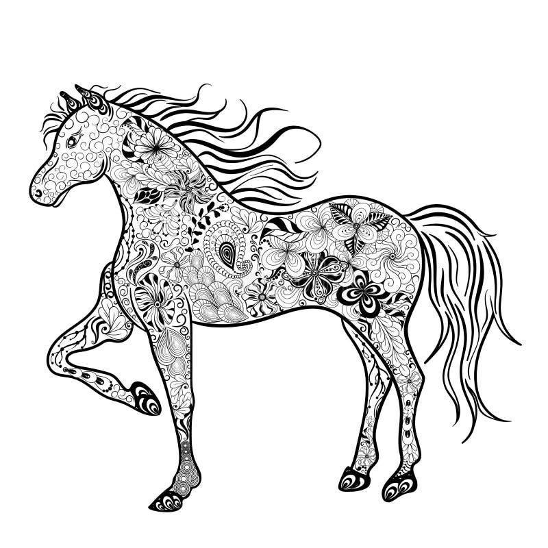 Garatuja do cavalo ilustração do vetor