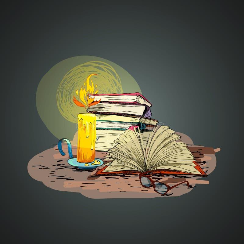 Garatuja do livro da vela ilustração royalty free
