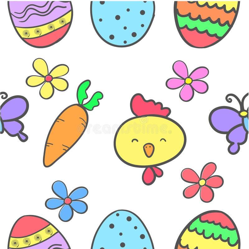 Garatuja do ovo da páscoa colorida ilustração royalty free