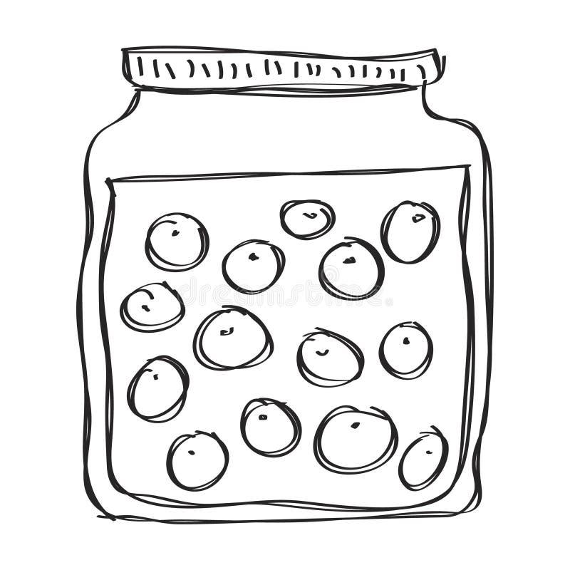 Garatuja simples de um frasco ilustração royalty free