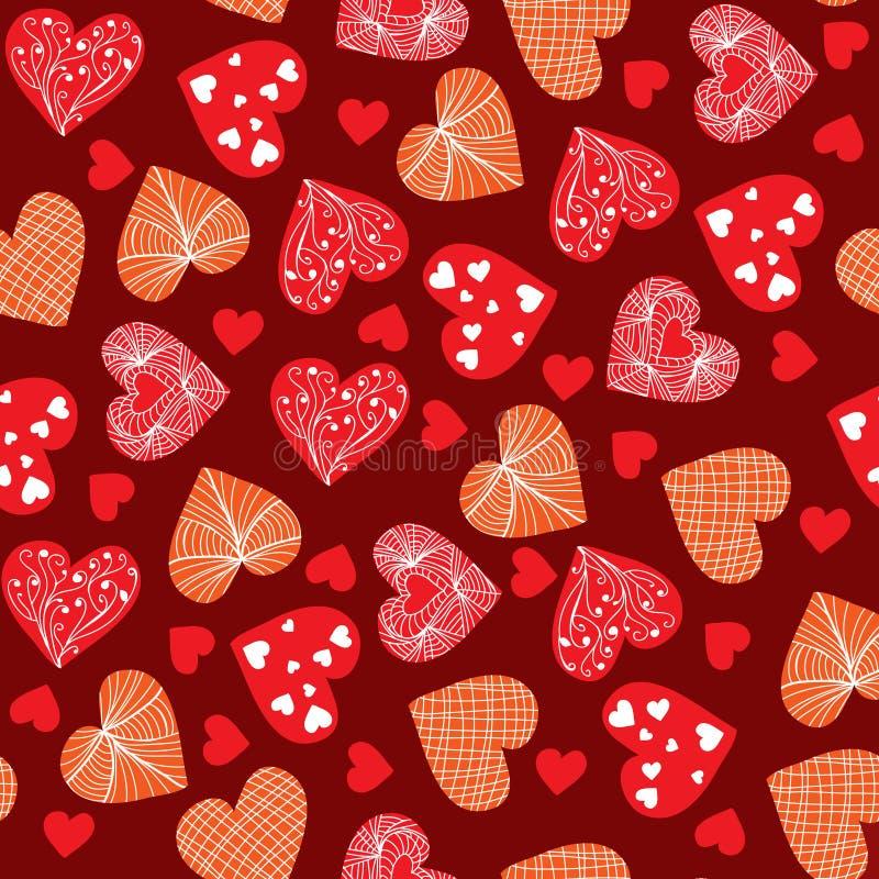 Garatuja Valentine Hea tirado mão do projeto do fundo do dia de Valentim ilustração stock