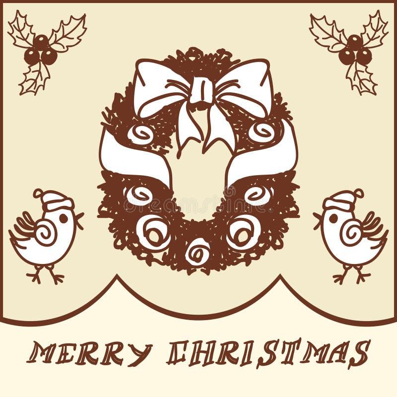 Garatujas da grinalda do Natal ilustração do vetor