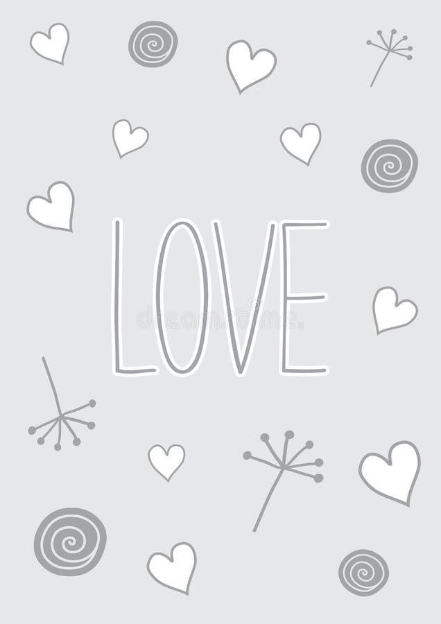 Garatujas do amor ilustração do vetor