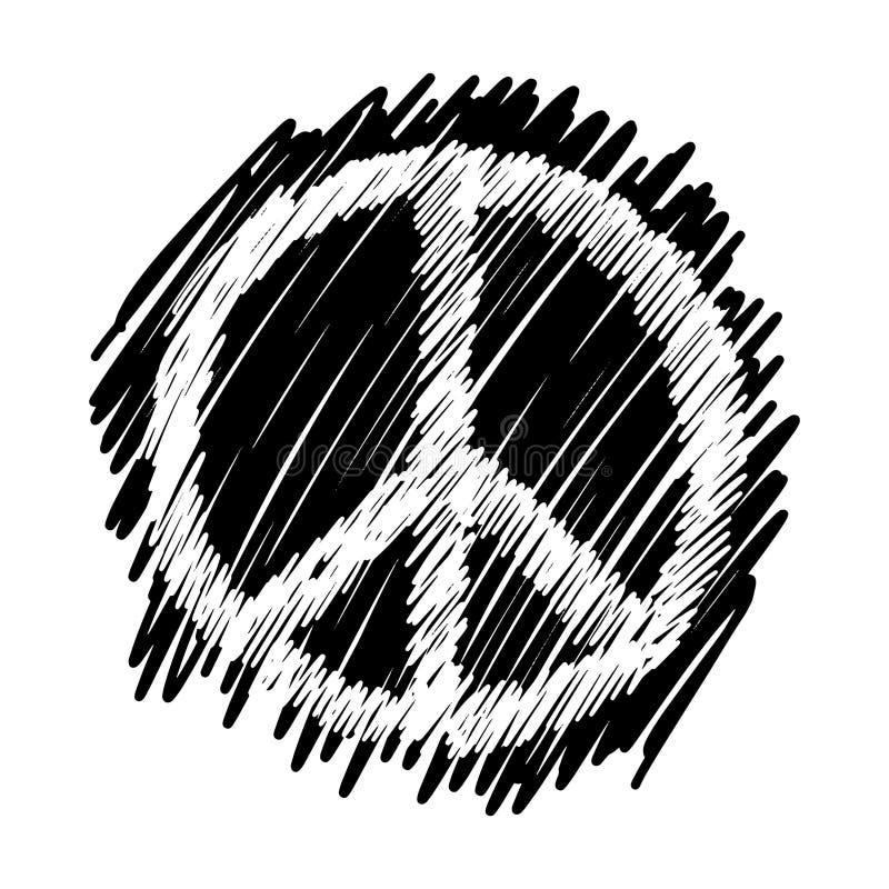 Garatujas do símbolo de paz ilustração do vetor