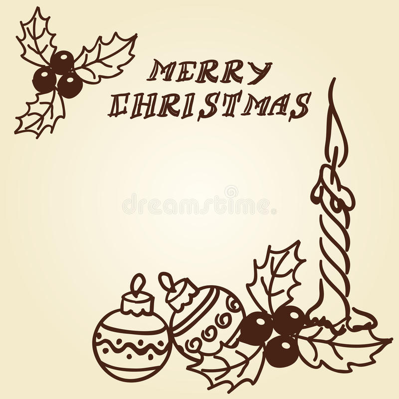 Garatujas dos sinos de Natal ilustração stock