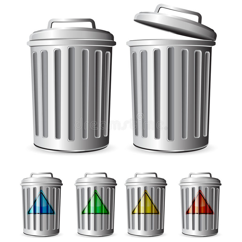 Garbage. Isolated on white background stock illustration