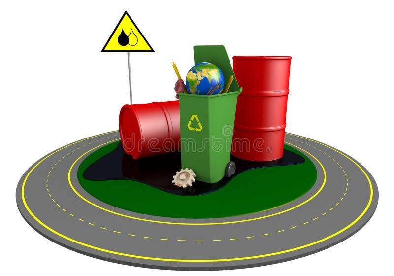Download Garbage stock illustration. Image of overflowed, barrel - 25132208