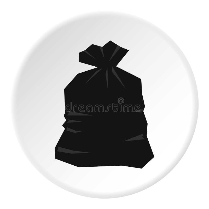 Garbage bag icon circle stock illustration
