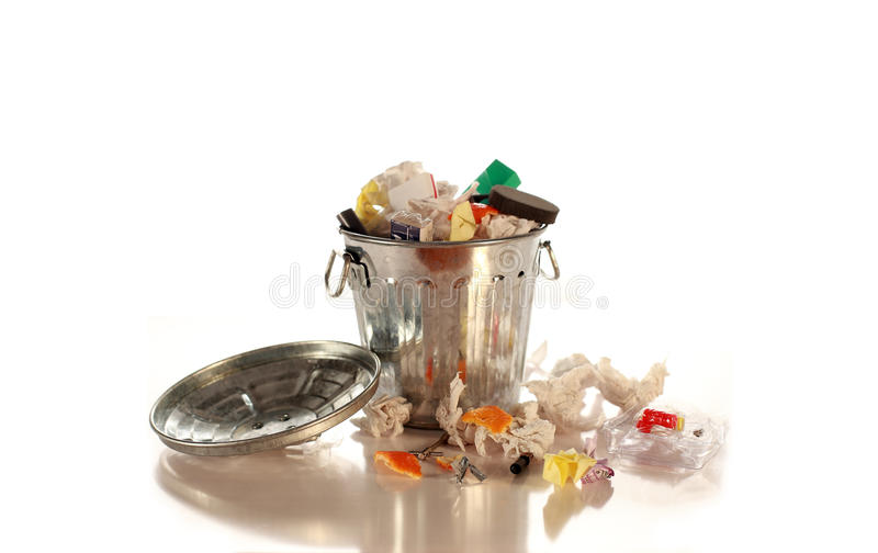 Garbage can stock photos