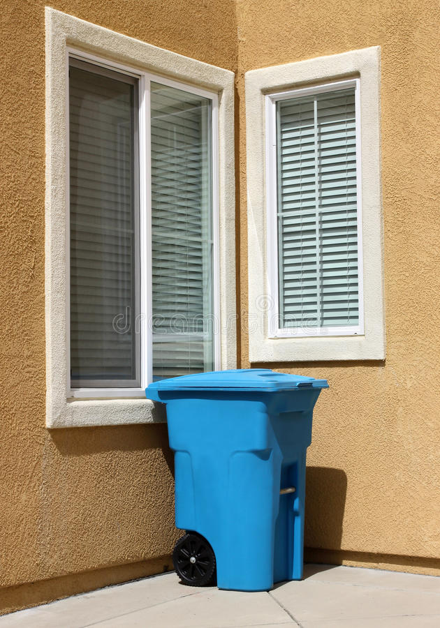 Download Garbage Can stock image. Image of blue, obsolete, object - 20328899