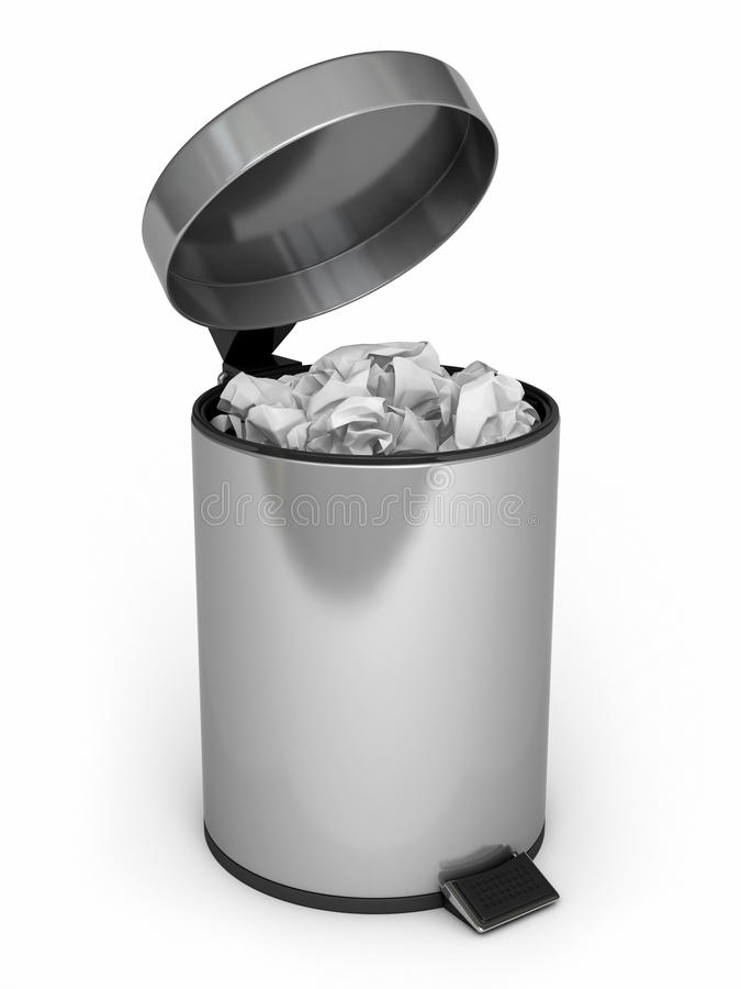 Download Garbage Can stock illustration. Image of cleaning, gray - 25739871