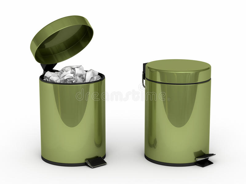 Download Garbage Can stock illustration. Image of cleaning, path - 25739910