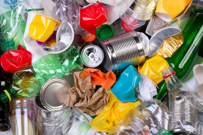 Garbage that can be recycled stock image