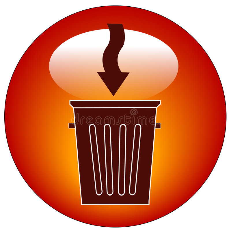 Garbage Can Icon Royalty Free Stock Image