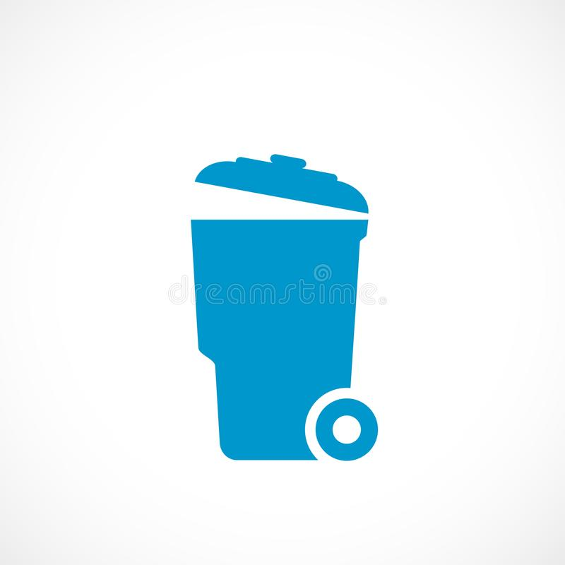 Garbage can vector icon. Isolated on white background vector illustration