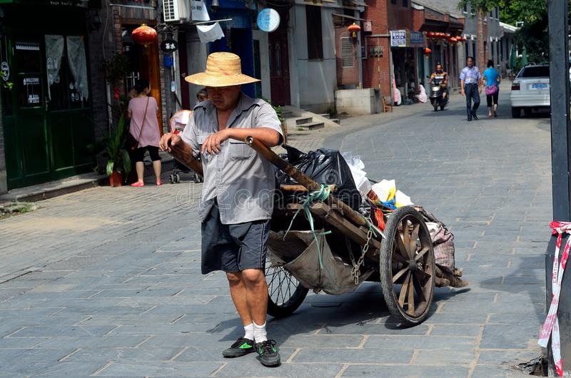Download Garbage collector editorial photography. Image of street - 32378237