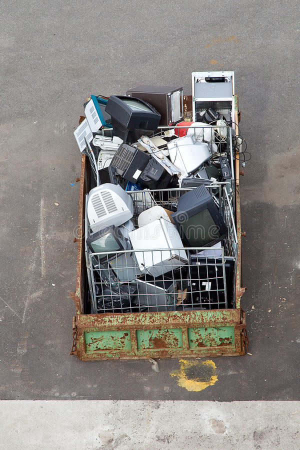 Download Garbage is in a container stock photo. Image of monitor - 33548908
