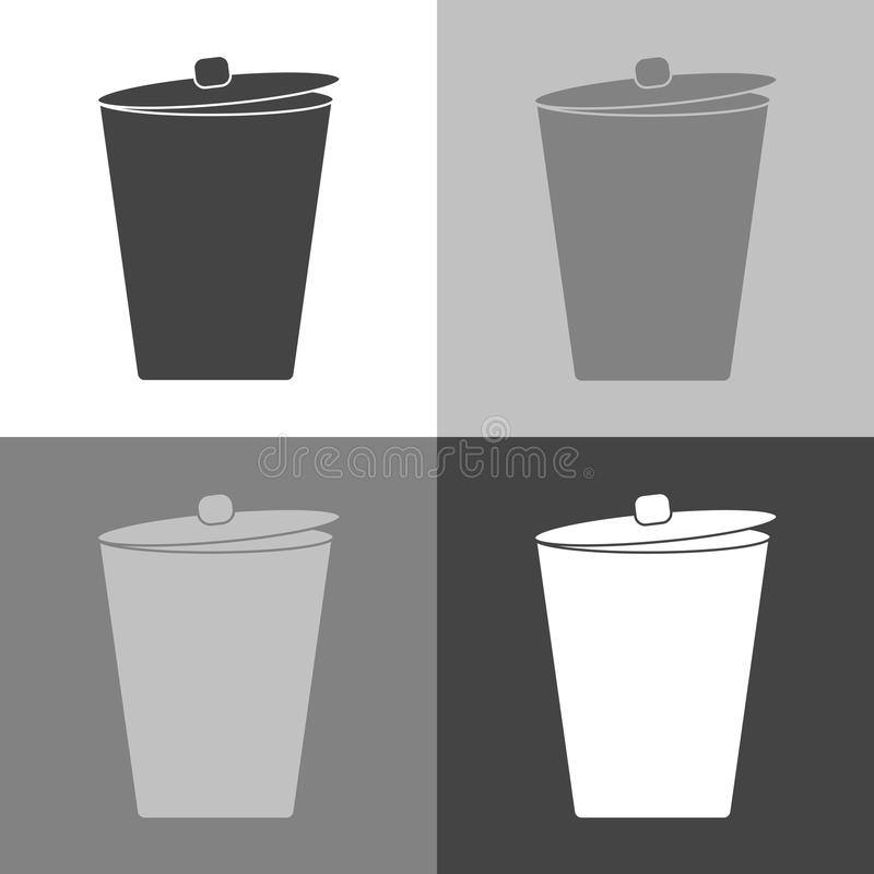 The garbage container. Vector icon Trash can. Waste.Vector set i vector illustration