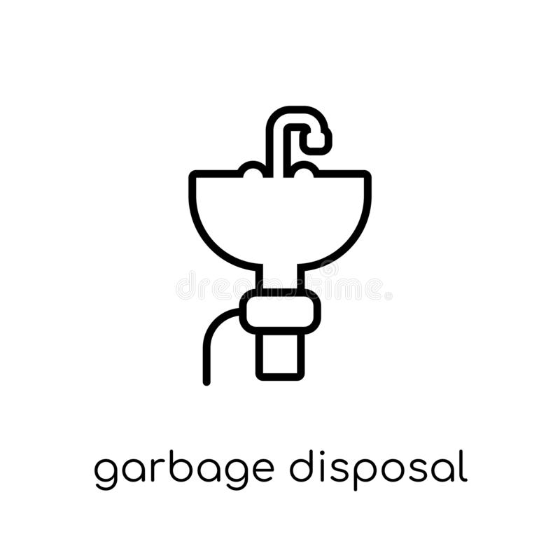garbage disposal icon from Electronic devices collection. royalty free illustration