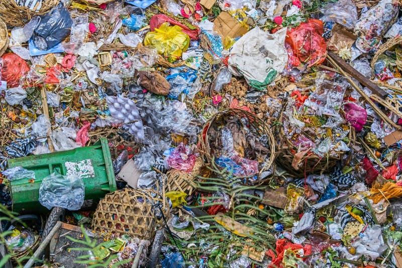 Garbage dump background stock photo