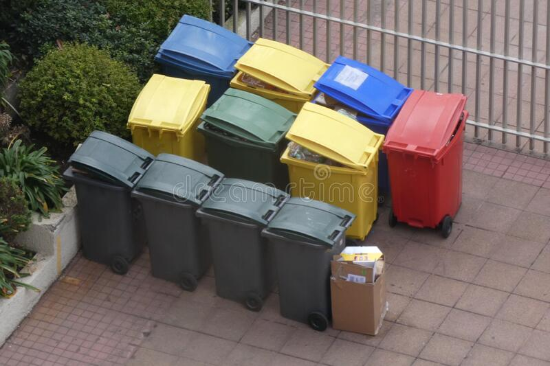 Garbage Dumpsters stock photos
