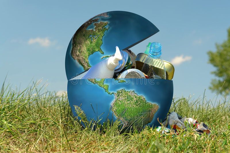 Garbage Earth royalty free stock images