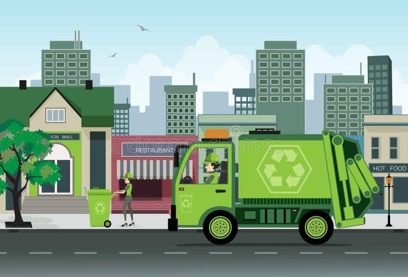 Garbage stock illustration