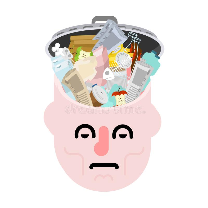 Image result for images of head full of garbage