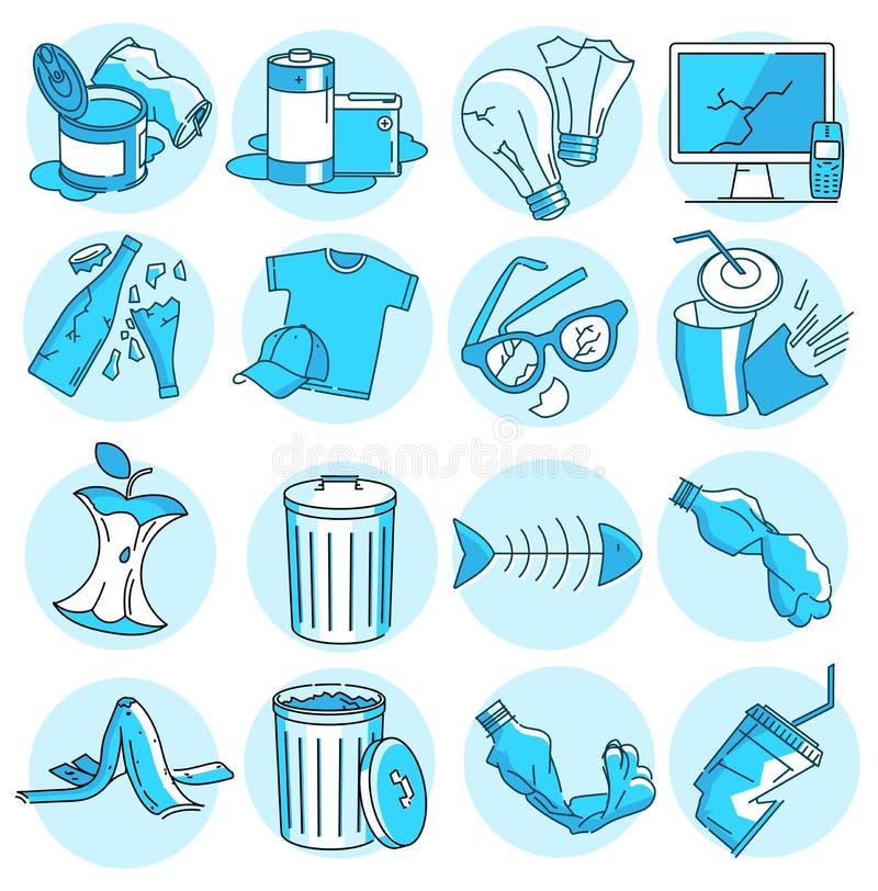 Garbage icons stock illustration