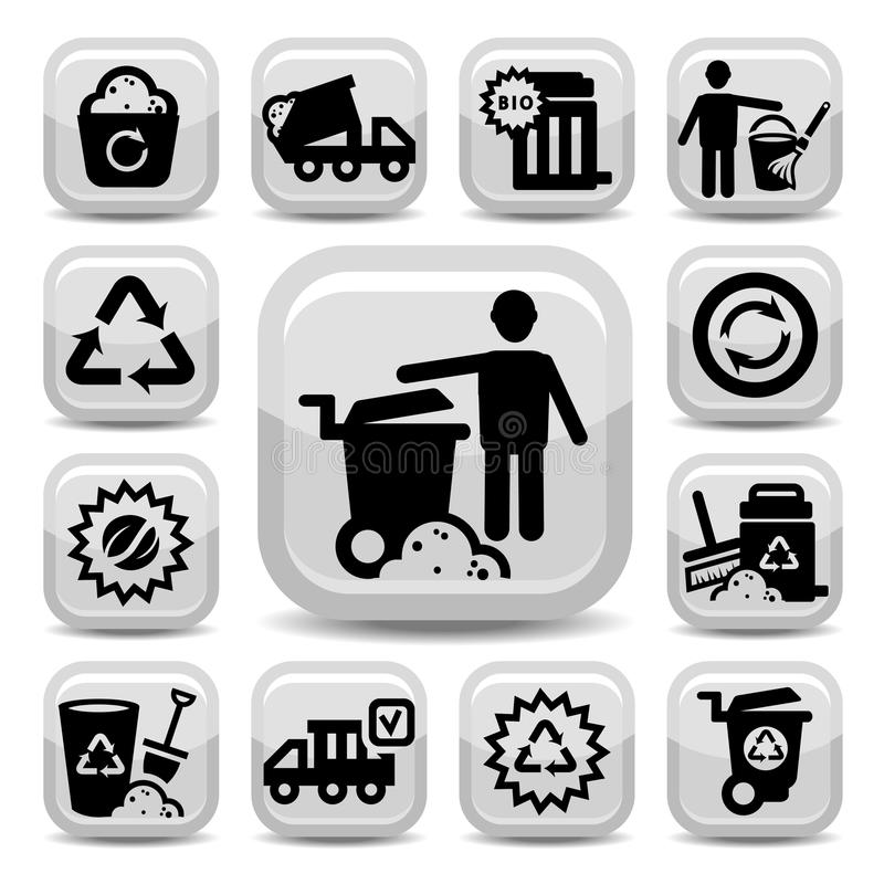 Download Garbage Icons Stock Images - Image: 32058024