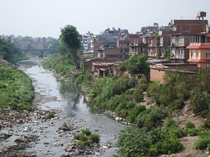 Garbage in Kathmandu stock photography