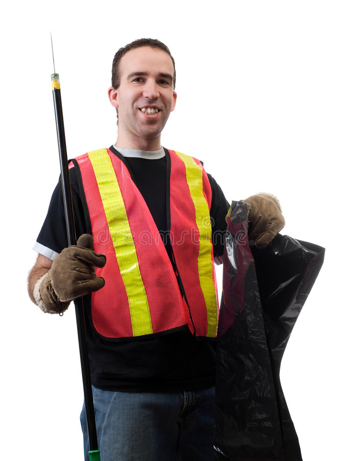 Download Garbage Picker stock image. Image of smile, occupation - 8059659