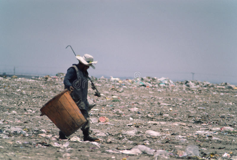 Mexico City Garbage Picker stock images