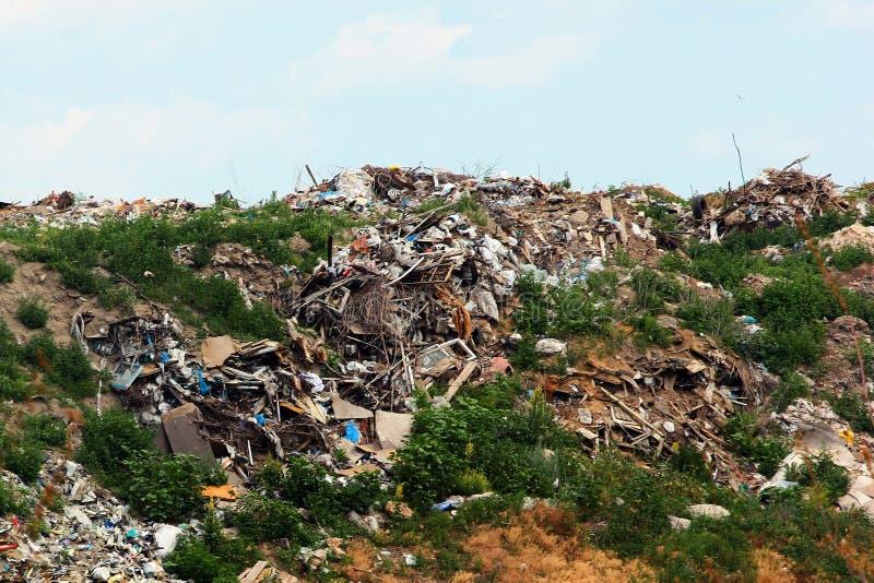 Garbage piles in trash dump or landfill. royalty free stock image