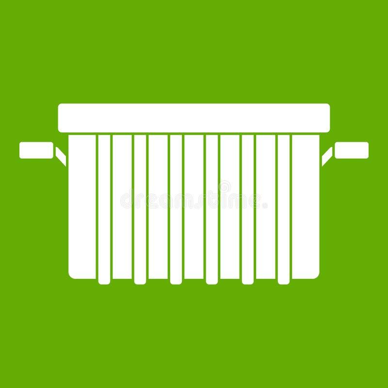 Garbage tank icon green royalty free illustration