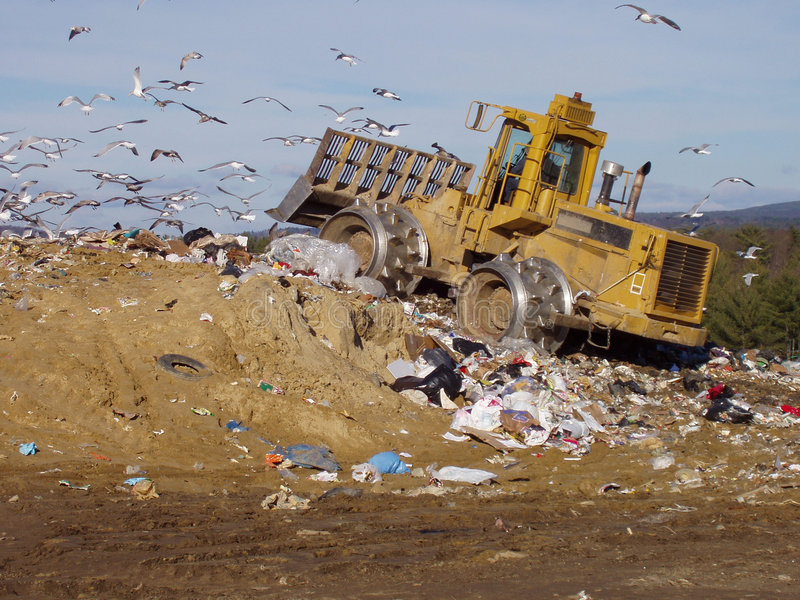 Garbage Tractor royalty free stock image