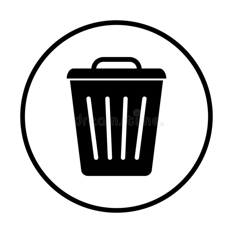 Garbage, trash basket icon, symbol delete, bin sign. Vector stock illustration