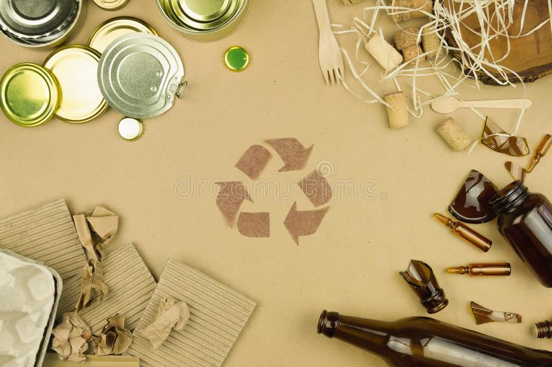 Environment trash care recycle reuse refuse concept stock image