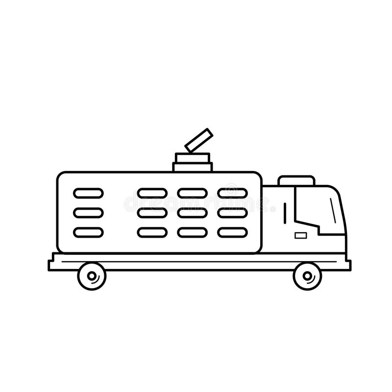 Garbage truck line icon. royalty free illustration