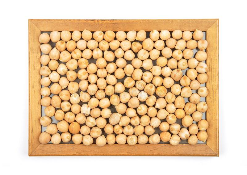 Garbanzos in frame. Colorful and crisp image of garbanzos in frame stock photo