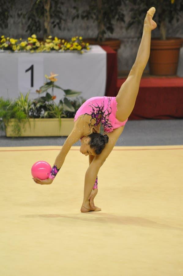 garcia гимнастический natalia звукомерная Испания стоковое изображение