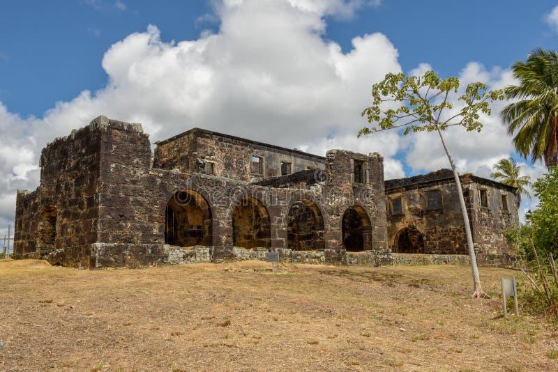 Garcia D`Avila castle ruins near Praia do Forte in Brazil. Garcia D`Avila castle ruins near Praia do Forte on Brazil stock photos