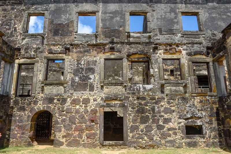 Garcia D`Avila castle ruins near Praia do Forte in Brazil. Garcia D`Avila castle ruins near Praia do Forte on Brazil stock images