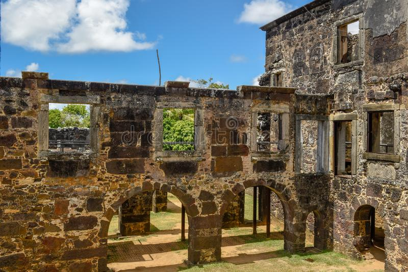 Garcia D`Avila castle ruins near Praia do Forte in Brazil. Garcia D`Avila castle ruins near Praia do Forte on Brazil royalty free stock images