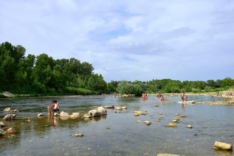 Gard-Fluss lizenzfreie stockbilder