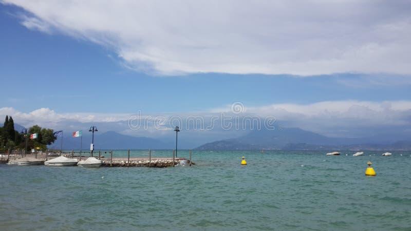 Garda湖,维罗纳 库存图片