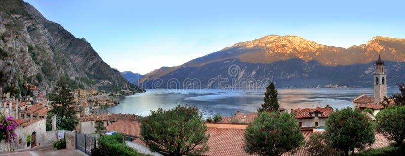 Garda湖limone 图库摄影