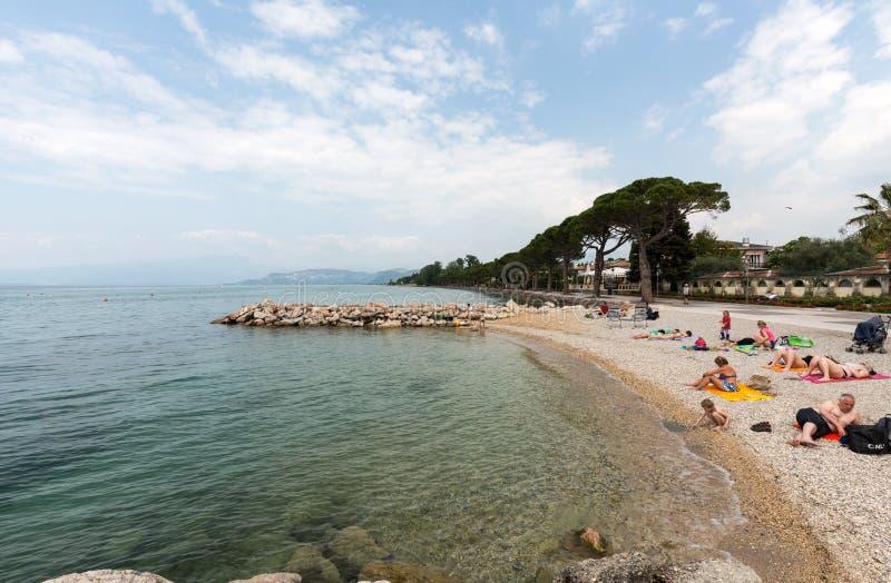 Garda Jeziorny /Lago Di Garda/, wielki Włoski jezioro w Północnym Włochy fotografia royalty free