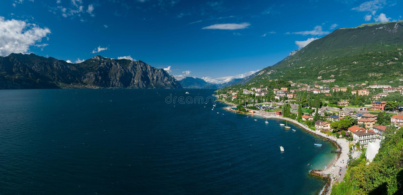 Garda lago di zdjęcie stock