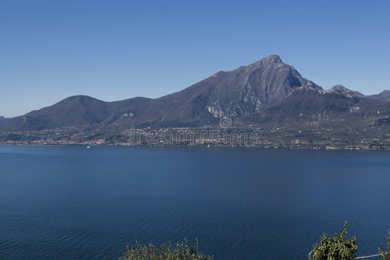 Garda lake from Crero. Veneto - Italy royalty free stock images